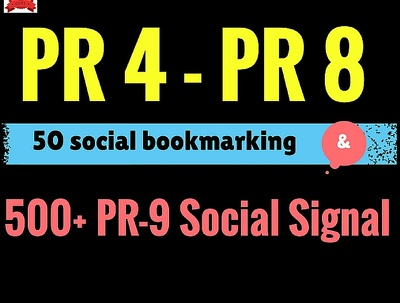 Do 50 manual Social Bookmarks and 500 Social Signal