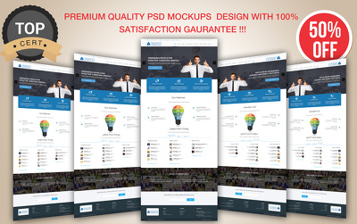 Design One page PSD Design- Home page/Landing Page/ Web app [Ready For Development]