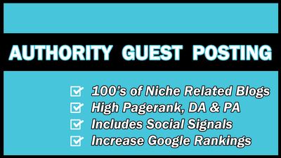 Write & publish 500 word guest post on related high PR blog to increase Google rank