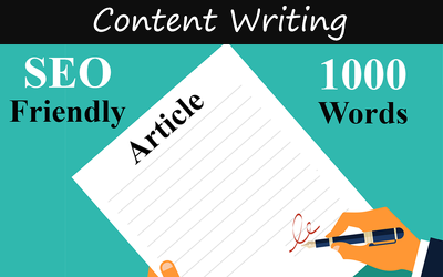 write SEO Friendly 1000 words web ready articles or blog posts