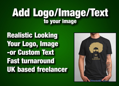 Add your Logo / Image / Text to your clothes, wall, car etc.