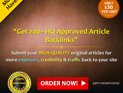 Get 200+ HQ approved Article Backlinks