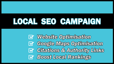 Schedule 30 day Local SEO Campaign to boost Google Rankings