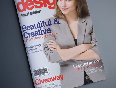 Professional magazine cover, Brochure Cover, E-book Cover, House Journal Cover