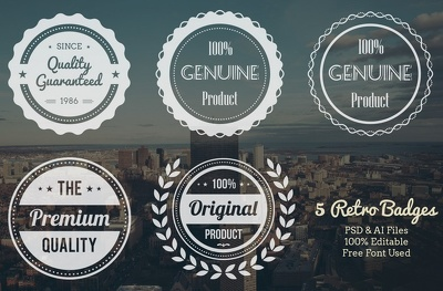 Create vintage retro text or badge logo for you