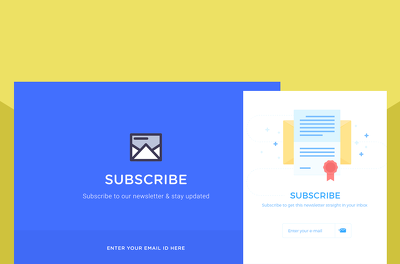 Create a subscribe form for your site and link it to your MailChimp account