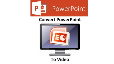 Convert your powerpoint presentation to HD video and add your voicover