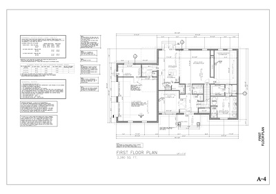 Draw a Floor Plan for a single family home