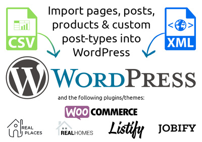 Import up to 100 pages/posts/products in to WordPress/WooCommerce