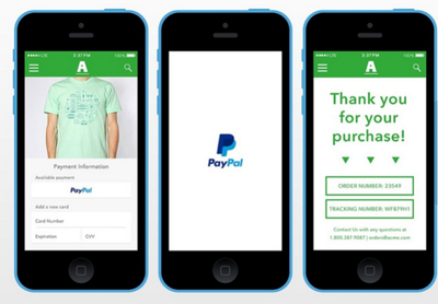 Integrate PayPal in mobile apps