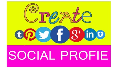 Setup Popular Social Media Accounts with  profile pic and cover pic Manually