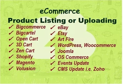 List or upload your 100 products on any eCommerce site