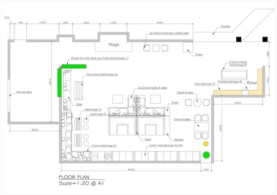 Provide you a restaurant floor plan design