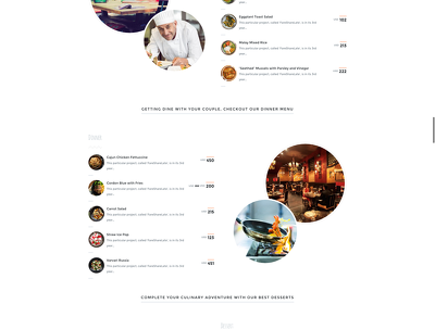 Create a modern beautiful restaurant or food producing company site