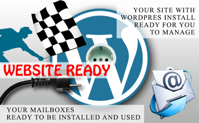 Install wordpress and setup your domain/mailboxes for you