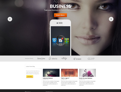Design a homepage template of website [.PSD only]