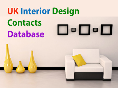 Supply 3000 plus records UK interior design contacts database included emails