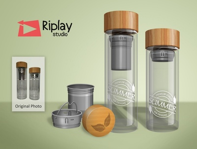 Draw product illustration with 3d look, photography alternative