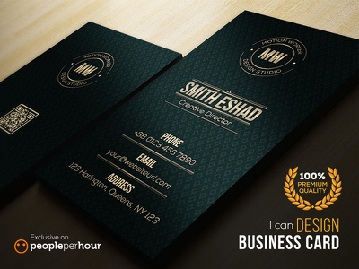 Design a premium business card with unlimited revisions