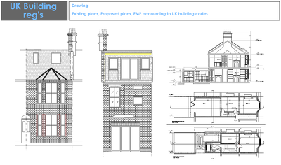 Provide full set of Building Regs for council permission