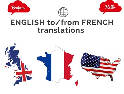 Translate 500 words (included technical vocabulary) from English to native French