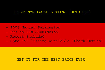 10 German local business listings (Upto PR 8)