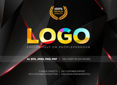 Design bespoke logo with unlimited revision and source files