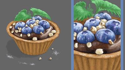 Create super delicious food illustrations