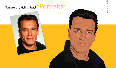 Create vector portrait from photo