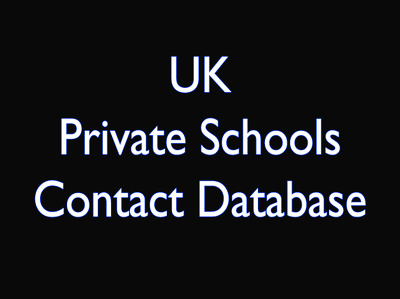 Fresh 1200 UK Private Schools Contact database including contact person, email