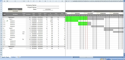 Customized Gantt Chart in Excel (View by Days)