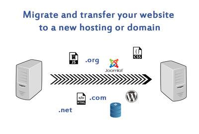 migrate and transfer website to new hosting or domain name