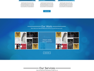 Design a concept website page