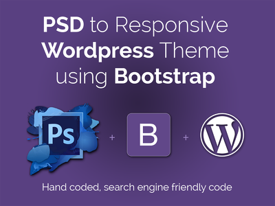 Convert PSD to Twitter Bootstrap 3 responsive, HTML5/CSS3, jQuery - 2 pages