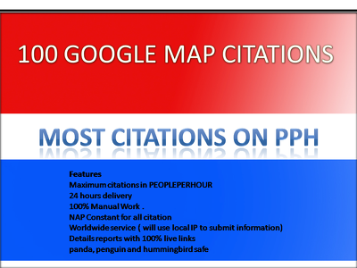 Do 100 Google map citations