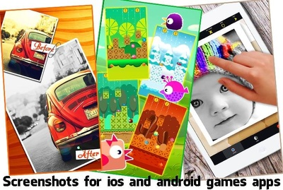 Design awesome SCREENSHOTS for mobile game app and website