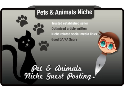 Write and Guest Post an SEO Optimised Article in the Pets Niche