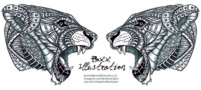 Create a ornate animal design