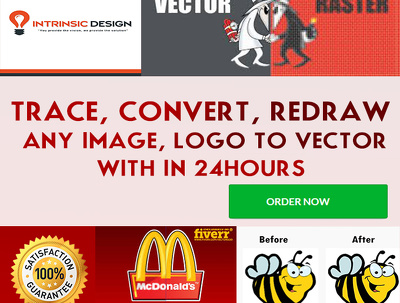 Trace, convert, redraw any image, logo to vector