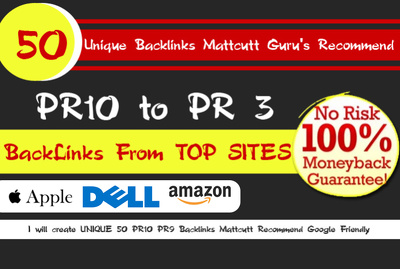 Build amazingly powerful  SEO links to your site from Apple, Dell & Amazon & more