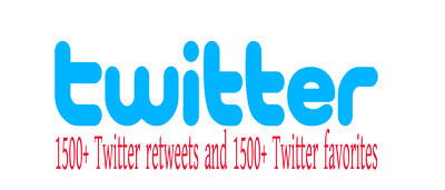 Provide Instant 1500+ Twitter retweets and 1500+ Twitter favorites