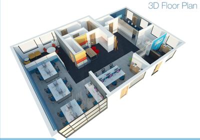 Create a 3D Rendered Floor Plan