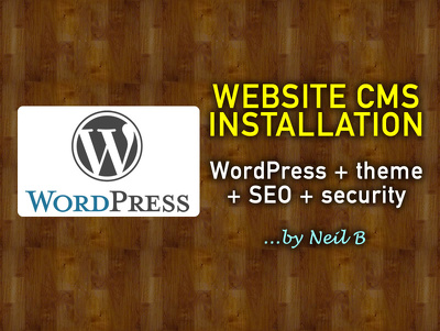 Install WordPress, your chosen theme, SEO & security tools on your hosting / server