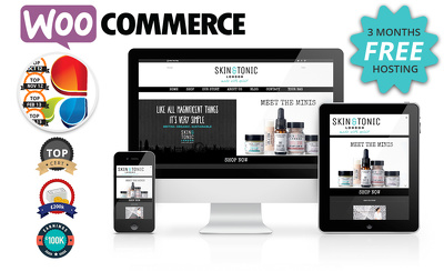 Design a full ecommerce responsive website with woocommerce