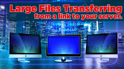 Transfer large files from a link to your server