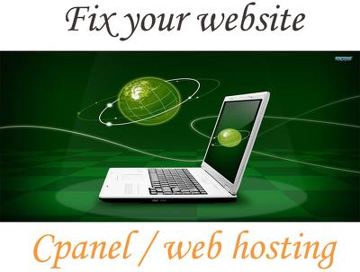 Install website & upload your website in cpanel