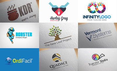 Design professional Logo  3 Different Initial Concepts