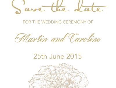 Design you bespoke Wedding Save the Date
