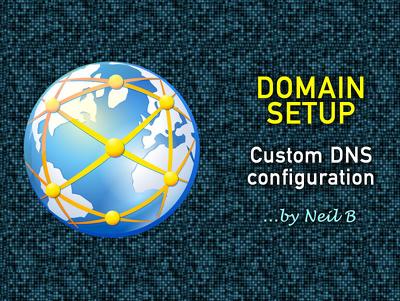 Configure custom DNS settings for a domain