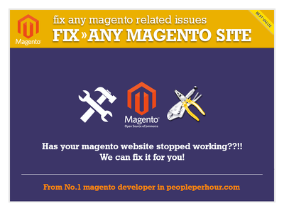 Do 1 hr Magento fixes / issues | No.1 Magento dev in PPH |